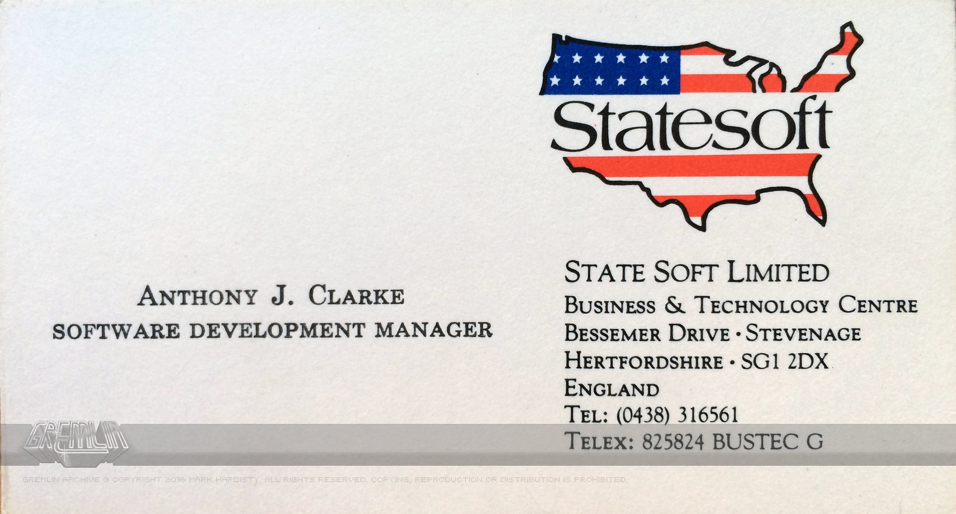 AC Statesoft Business Card