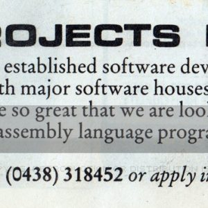 Micro Projects Advert