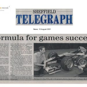 Sheffield Telegraph 10.08.01_1